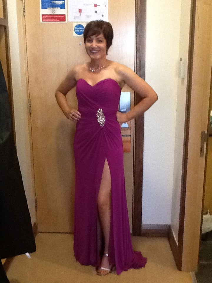More Colour Belle Dress Hire Customer Looks Stunning In Magenta